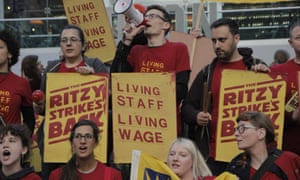 Ritzy cinema staff and supporters protest over pay.