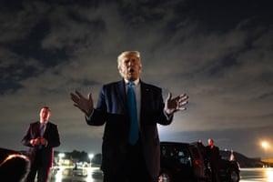 Donald Trump gesticulates
