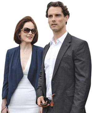 Actor Michelle Dockery with her late fiance John Dineen