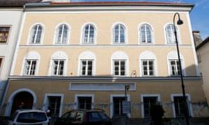 The house where Adolf Hitler was born in Braunau am Inn, Austria