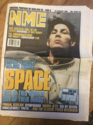NME cover February 1998 Space.