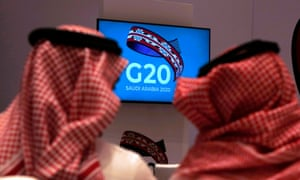 G20 finance ministers and central bank governors are meeting in Riyadh, Saudi Arabia.