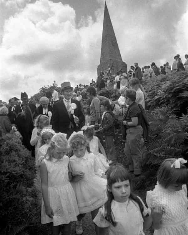 The John Knill ceremony, Worvas Hill, St Ives, Cornwall.