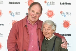 Authors Michael Morpurgo and Judith Kerr attend the BFI & Radio Times TV Festival at BFI Southbank in London in 2017