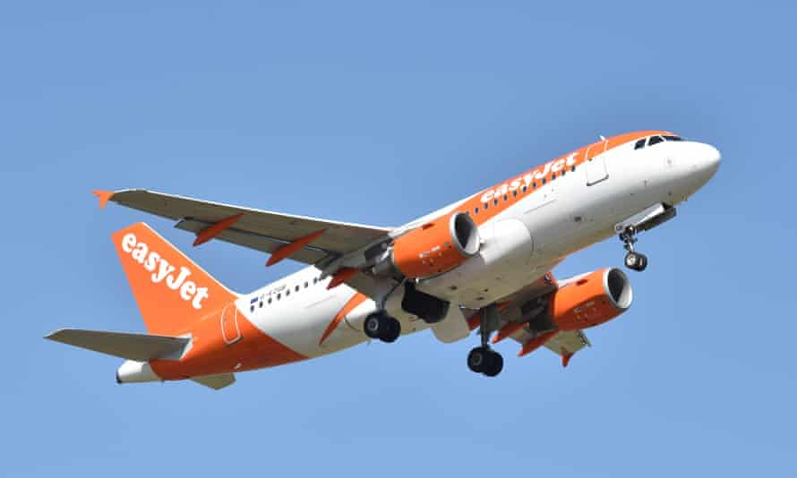 An easyJet flight takes off from Southend airport
