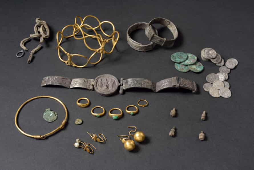 The Fenwick treasure, buried in Roman Colchester for safekeeping during the Boudiccan revolt.