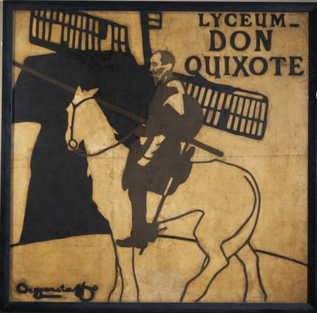 A poster by William Nicholson and James Pryde, aka the Beggarstaffs, advertising Don Quixote at the Lyceum theatre, London, 1895.