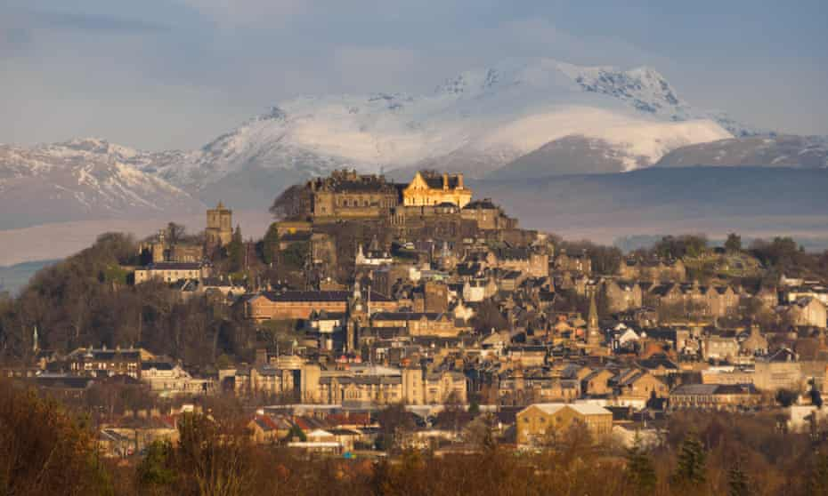 A view of the city of Stirling in Central Scotland