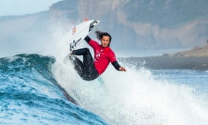 Current world no.2 and O'Neill team rider Jordy Smith of South Africa competes at Bells Beach, Australia, in April this year.