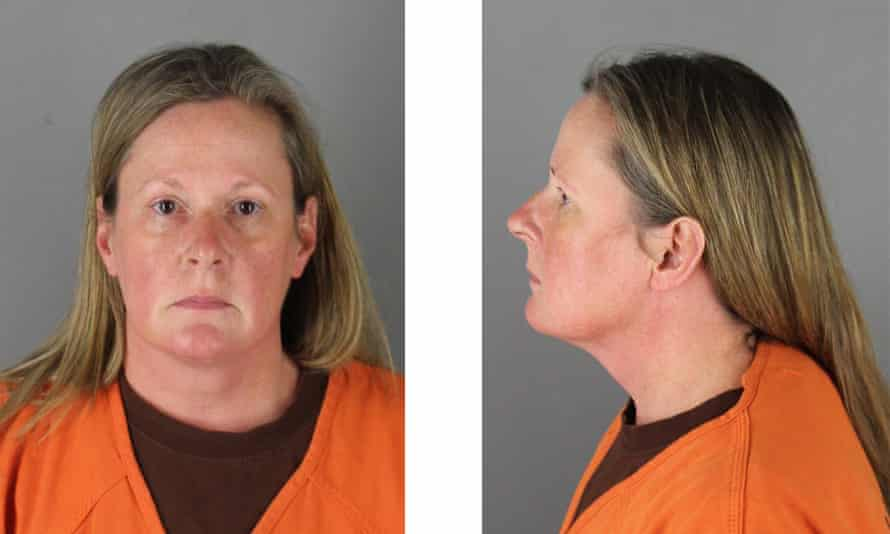 Former Brooklyn Center police officer Kim Potter poses for a mugshot at the Hennepin county jail.
