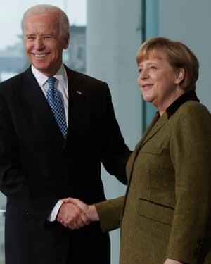 Angela Merkel, Joe Biden