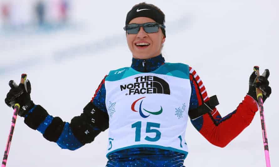 Oksana Masters in action at the 2018 Winter Paralympics