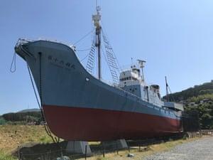 A former whaling ship in Ayukawa, Japan, June 2019.