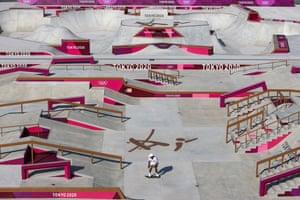 The American skateboarder Nyjah Huston