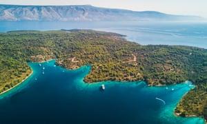 Jakljan, a small island near Dubrovnik.