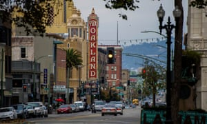 Downtown Oakland, California, the rapidly gentrifying city that gave birth to the Black Panther Party.