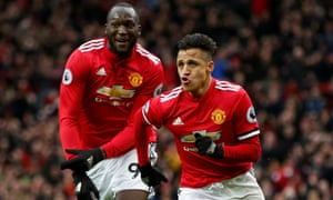 Manchester United's Alexis Sanchez and Romelu Lukaku