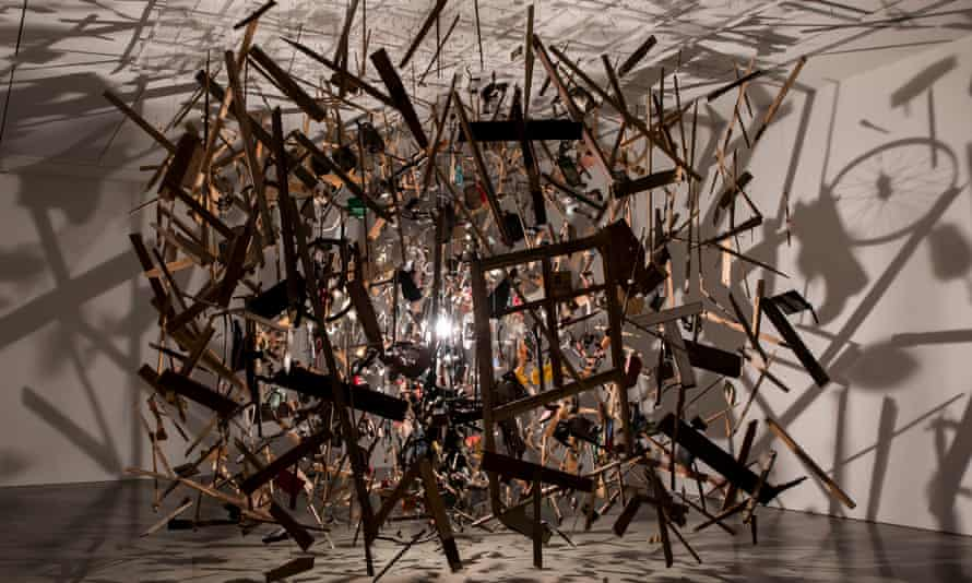 Cold Dark Matter: An Exploded View by Cornelia Parker (1991).