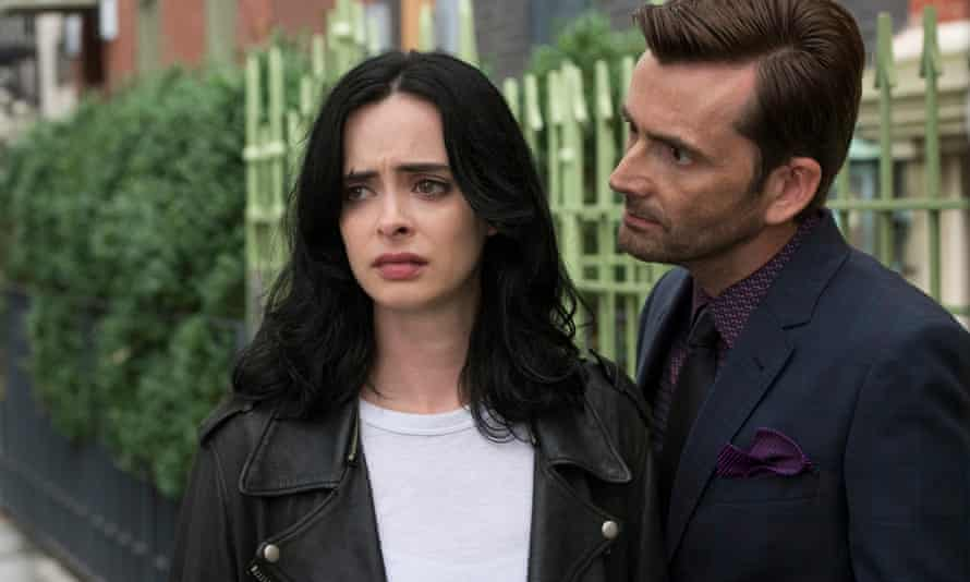 Trouble in mind…  Krysten Ritter aka Jessica Jones with David Tennant as Kilgrave