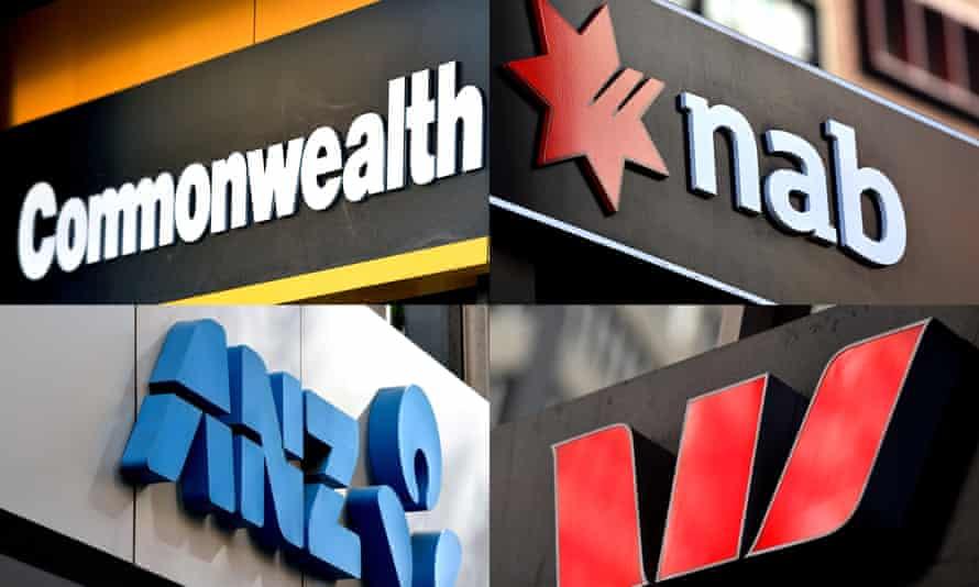 Logos of big four banks