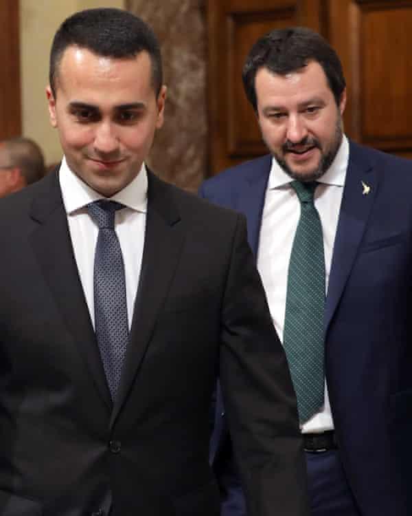 Luigi Di Maio and Matteo Salvini, Italy's two current deputy prime ministers.