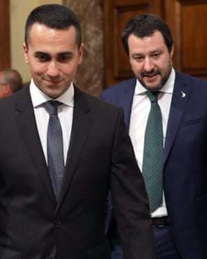 Luigi Di Maio and Matteo Salvini, Italy's two current deputy prime ministers.