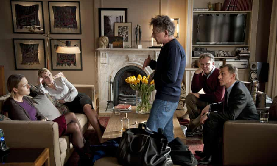Polanski directs Kate Winslet, Jodie Foster, Christoph Waltz and John C. Reilly in the 2011 film Carnage.
