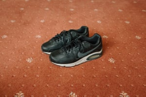 Jonathan took his dad to the Nike store to buy these Air Max trainers, which dramatically improved his mobility for the last few months of his life. © Simon Bray