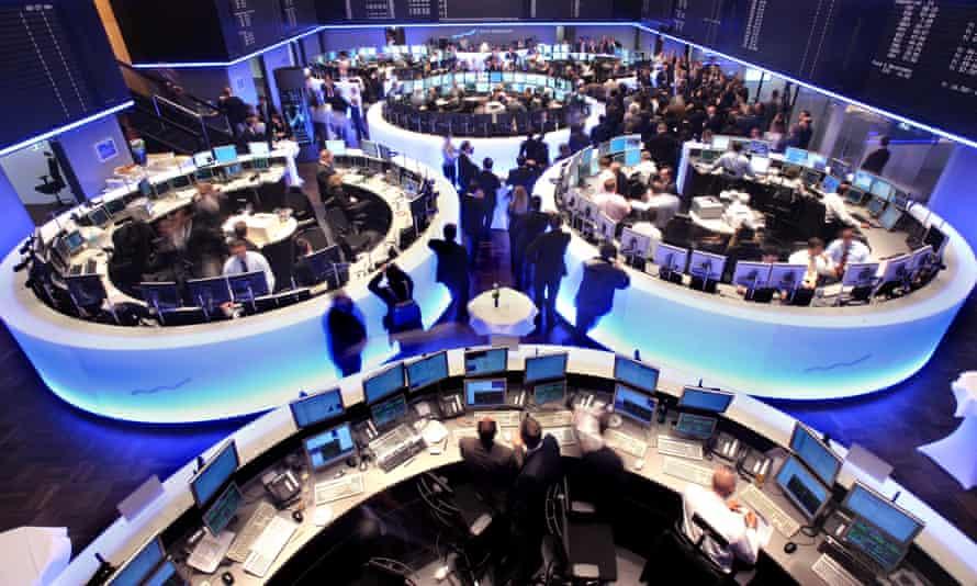 The trading floor at the Deutsche Börse in Frankfurt