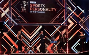 Presenters (left-right) Gabby Logan, Gary Lineker, Clare Balding and Alex Scott.
