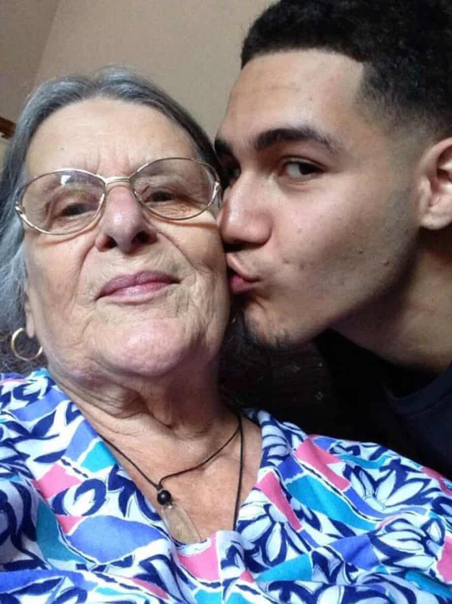 Joshua Ribera and his gran