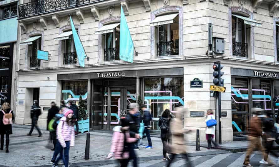 A Tiffany store in Paris.