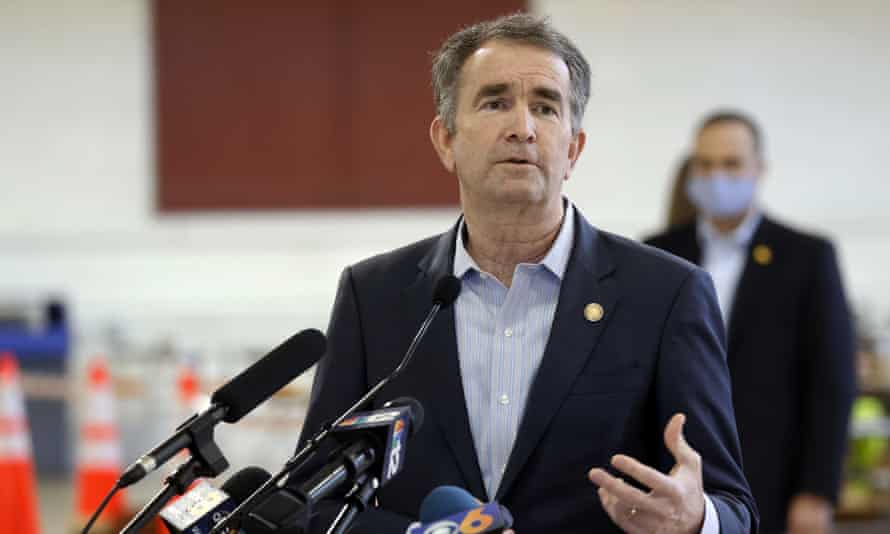 Virginia's Democratic governor, Ralph Northam, in Richmond on 21 January. When he signs the measure into law it will make Virginia the 23rd state to stop executions.