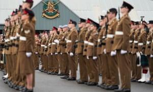 Army foundation college graduation parade In Harrogate.