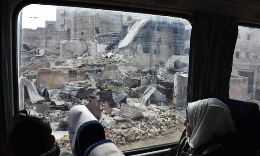Aleppo from the train