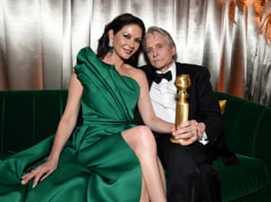 Catherine Zeta-Jones and Michael Douglas at the Netflix After Party, Inside
