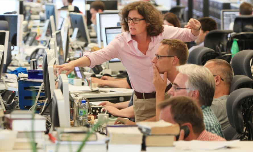 The Guardian newsroom, 2012