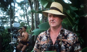 Reg Gadney in Jamaica for the filming of Goldeneye, 1989, based on the life of Ian Fleming. Gadney wrote the television script and enjoyed a cameo acting role as an ornithologist.