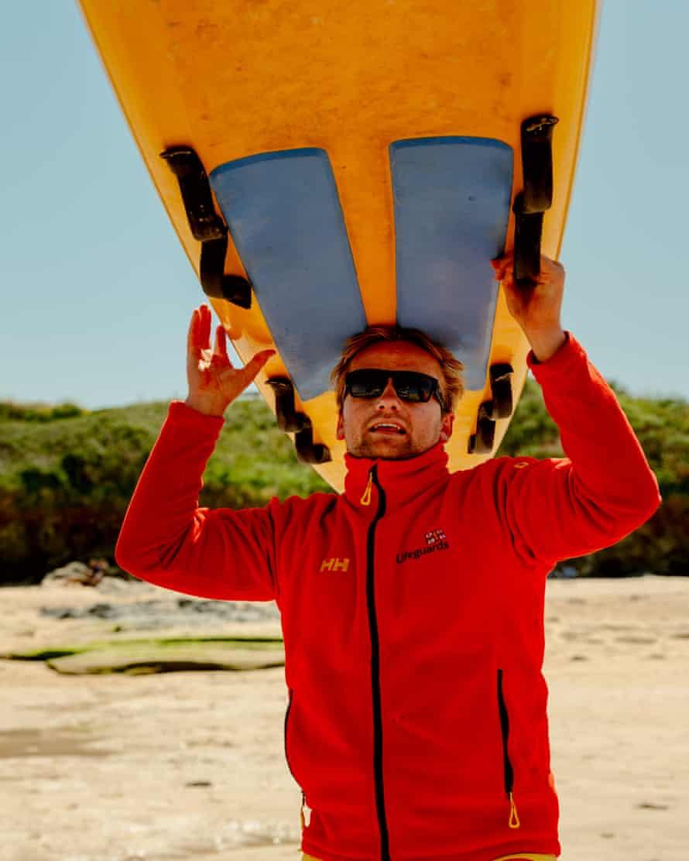 RNLI lifeguard Seb Scott-Bray.