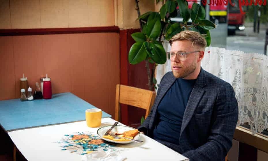 Rob Beckett at the Electric Cafe in West Norwood, south London