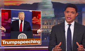 'You see, typical anti-drug PSAs don't work on the kids. What Trump needs is a way to make drugs seem really uncool to young people'...Trevor Noah