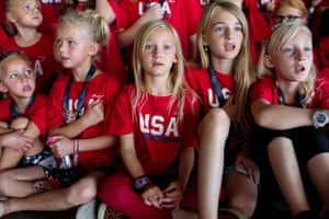 """Utah Patriot Camp. A week-long day camp, takes place in Herriman, Utah, 30 June 2017. The camp teaches the constitution, American values, military history, lessons on God's Word, and others. The camp strives to create patriots, and is for elementary-aged children. The Herriman camp hosted 95 students for the week.In the small town of Herriman, Utah, children as young as six learn the Declaration of Independence by putting it to song. Over a few hot summer days, they will learn all about """"Americanism,"""" a blend of patriotism and history that casually mixes in some of the basic tenets of libertarianism. At one point, they'll pretend to overturn a boat full of tea into Boston Harbor. Over 900 students attend """"Utah Patriot Camp"""" annually. Herriman, Utah."""