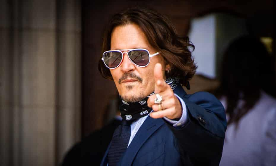 Johnny Depp arriving at the Royal Courts of Justice in July.