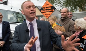 Tim Farron said: 'The Liberal Democrats will engage in no pacts, no deals.'