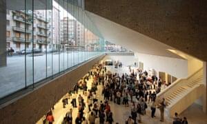 Grafton Architects' 'freespace undercroft' at the Universita Luigi Bocconi in Milan.