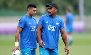 All Blacks Richie Mo'unga and Sevu Reece