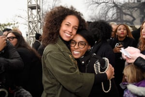 Alicia Keys and Janelle Monáe in Washington DC