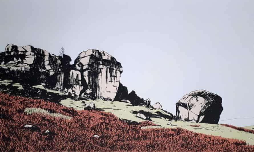 Sarah Harris, The Cow and Calf Rocks, at The Hepworth, Wakefield Online Print Fair.