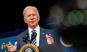 Biden at the White House on Thursday. He called the supreme court's refusal to block to Texas law 'an unprecedented assault on women's constitutional rights'.