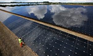 A solar farm in Oxfordshire